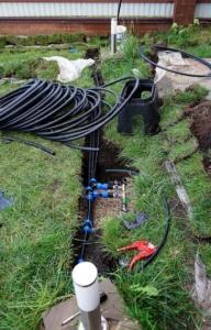 Подготовка к сборке системы полива участка